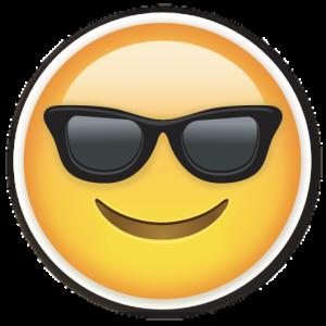 emoticon occhiali